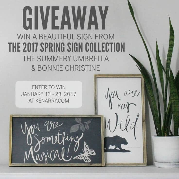 Limited Edition 2017 Spring Sign Collection + Giveaway