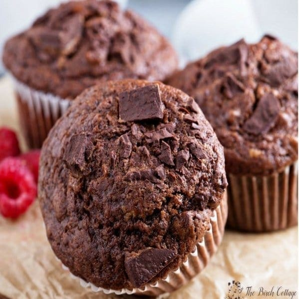 Healthy Chocolate Chunk Muffins