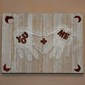 How to make heart hand string art