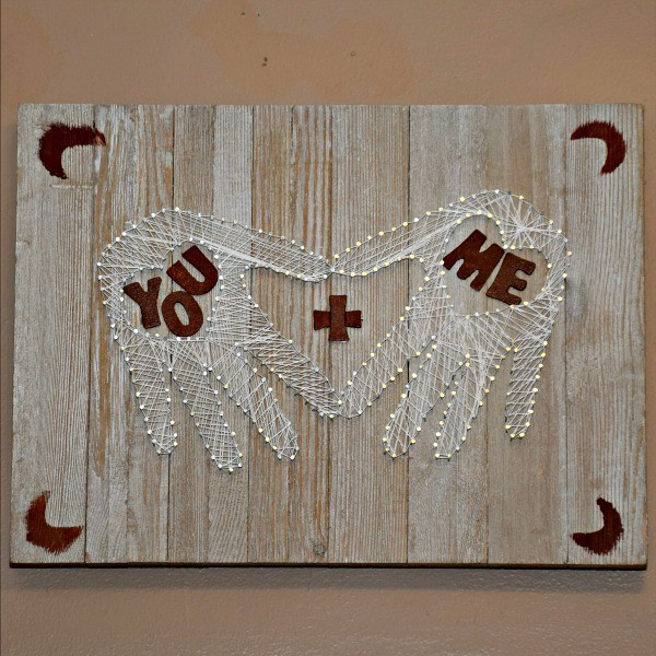 Wedding Gift String Art : Heart In Hand String Art for Weddings and Gifts