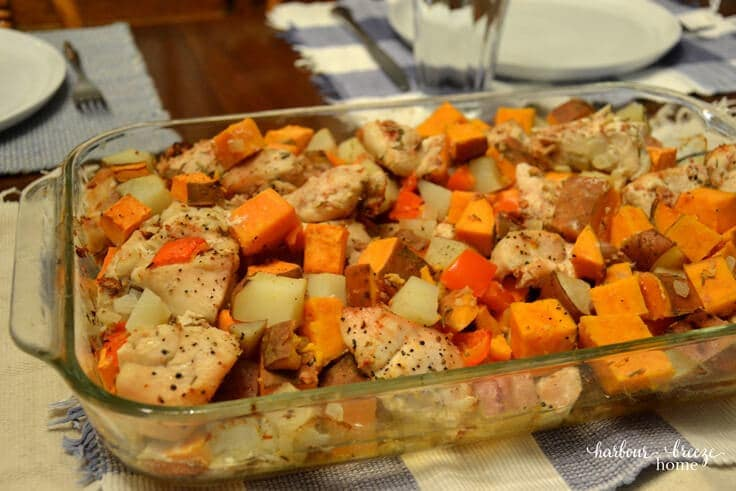 ONE POT MEAL: CHICKEN CHORIZO BAKE