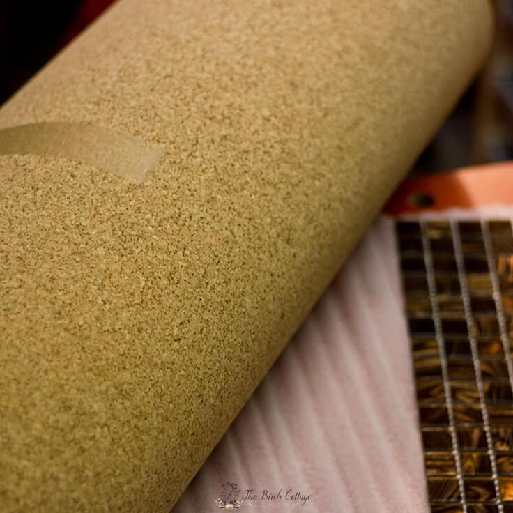 A roll of cork that you can use to make homemade placemats