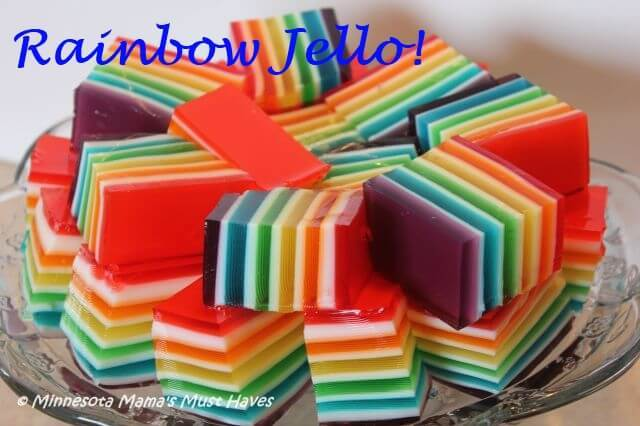 Rainbow Jello Recipe and Instructions – Must Have Mom - St. Patrick's Day Desserts featured on Kenarry.com