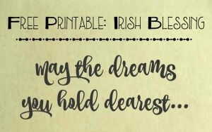 Free Printable: An Irish Blessing By Trish Sutton