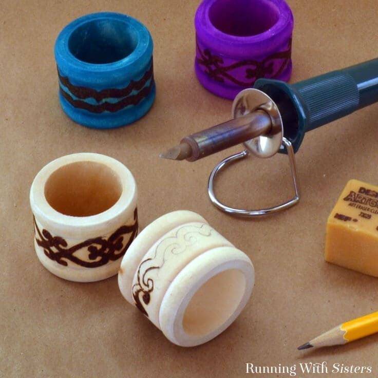 Boho Chic Napkin Rings: Get Started Woodburning
