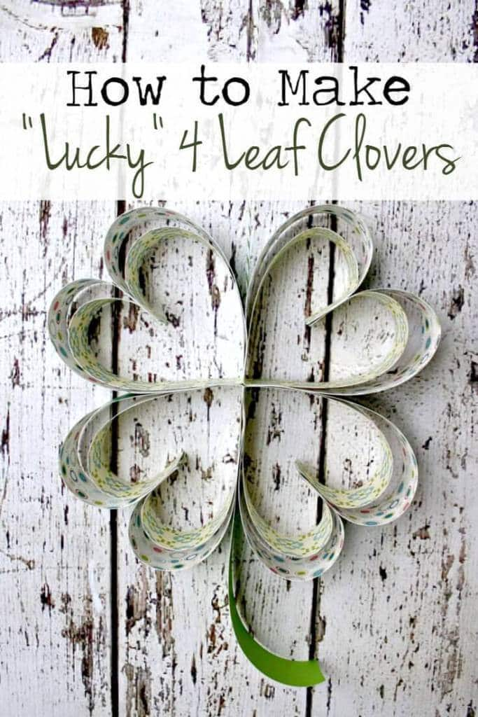 "How to Make Paper ""Lucky Clover"" Shamrocks – Live Randomly Simple - St. Patrick's Day Home Decor Ideas featured on Kenarry.com"