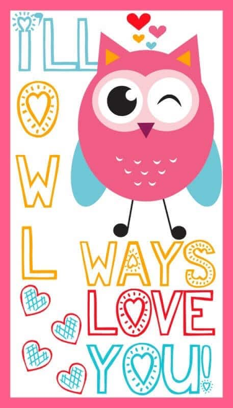 Owl Printable Valentine's Day Cards – A Spectacled Owl - Free Printable Valentines featured on Kenarry.com