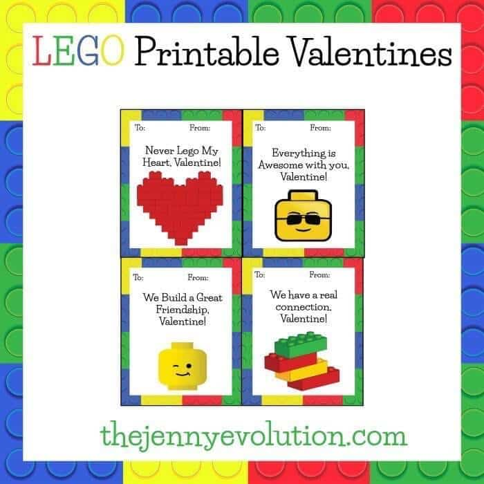 Lego Valentines Free Printables – The Jenny Evolution - Free Printable Valentines featured on Kenarry.com