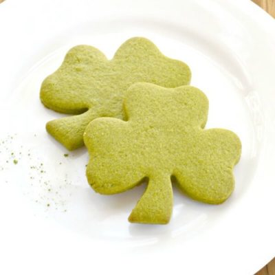 Green Tea Shamrock Cookies – About a Mom - St. Patrick's Day Desserts featured on Kenarry.com