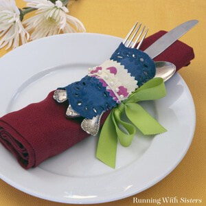 Create no sew projects from a dishtowel.