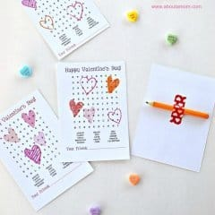Word Search Printable Valentines – About a Mom - Free Printable Valentines featured on Kenarry.com