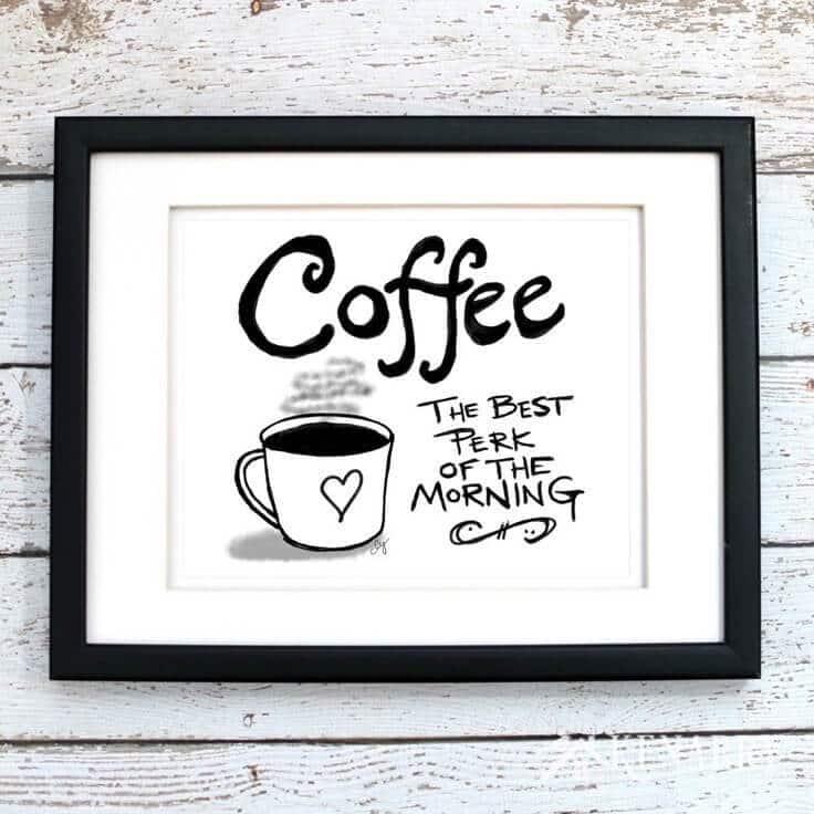 Coffee Wall Art: 10 Inexpensive Digital Kitchen Prints