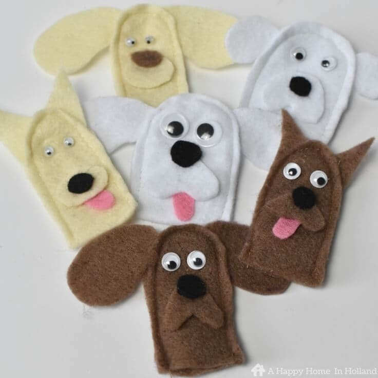 Dog Finger Puppets: Easy Party Favor Idea For Birthdays