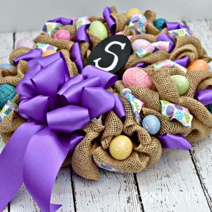 how to make an easy ribbon wreath