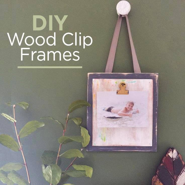 DIY Wood Clip Frames to Display Photos: An Easy Home Decor Idea