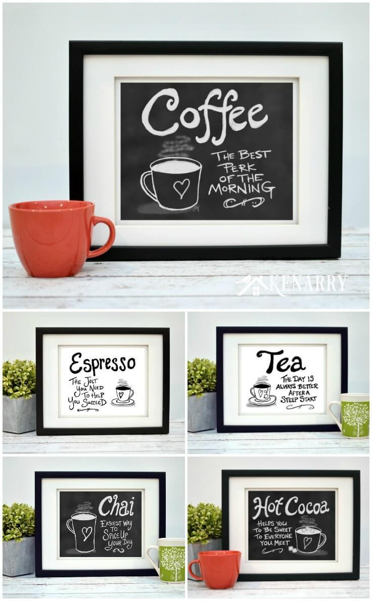 Coffee Wall Art: 10 Inexpensive Digital Kitchen Prints