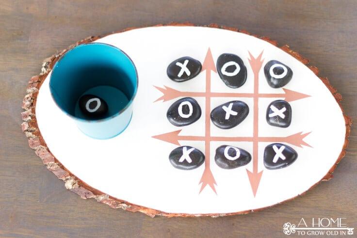 outdoor tic tac toe game board