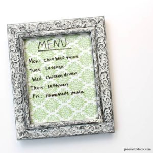 Turn a Picture Frame Into a Dry Erase Menu Board