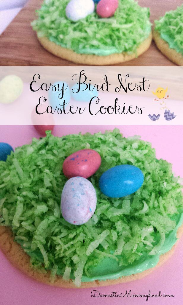 Easy Bird Nest Cookies - Domestic Mommyhood - Easter Desserts featured on Kenarry.com