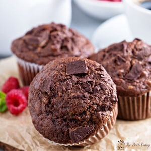 These Chocolate Chunk Muffins are healthy and decadent. Get the recipe from The Birch Cottage.