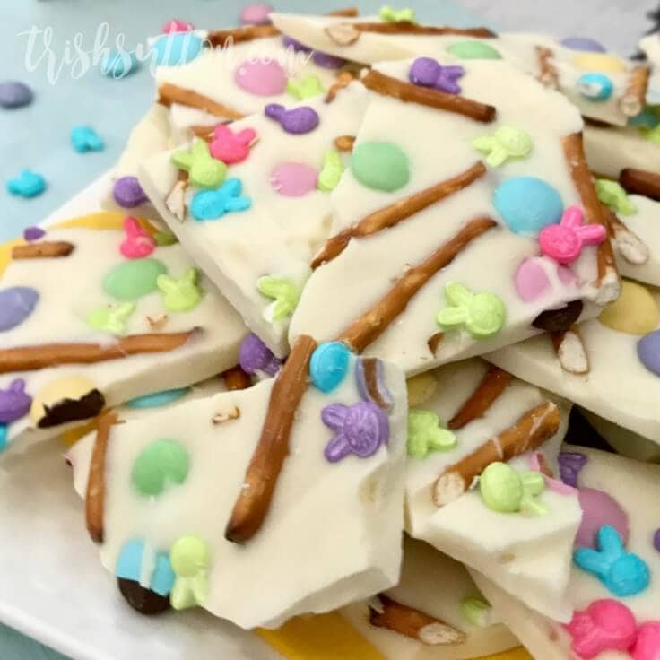 Spring Treat: Easter Pretzel Bark Recipe by Trish Sutton