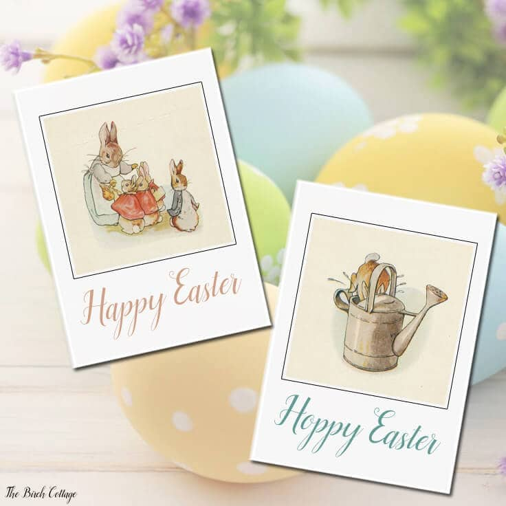 Download your free printable Vintage Easter Cards from The Birch Cottage for Kenarry Ideas for the Home readers!