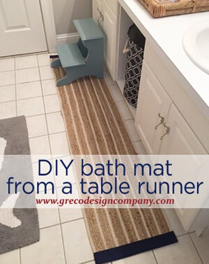DIY Bath Mat from a Table Runner