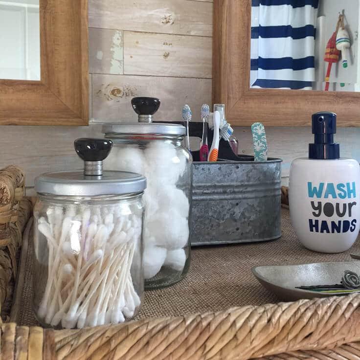 Diy Bathroom Storage Jars An Easy Upcycled Decor Idea