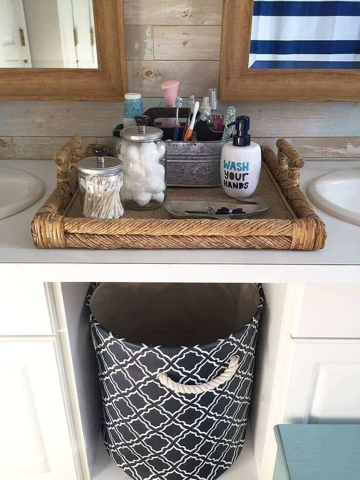 DIY Bathroom Storage Jars