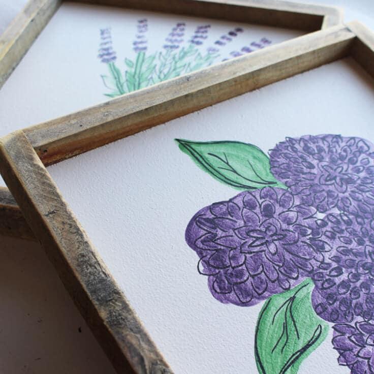 DIY Spring Flowers Wood Sign PLUS Video Tutorial