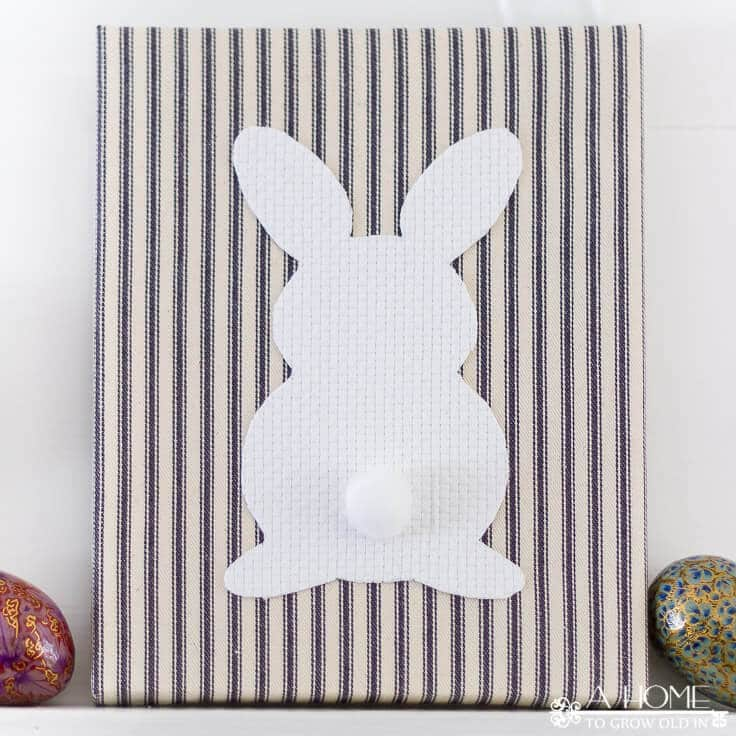 Easter Decor: Easy Fabric Wrapped Canvas Idea