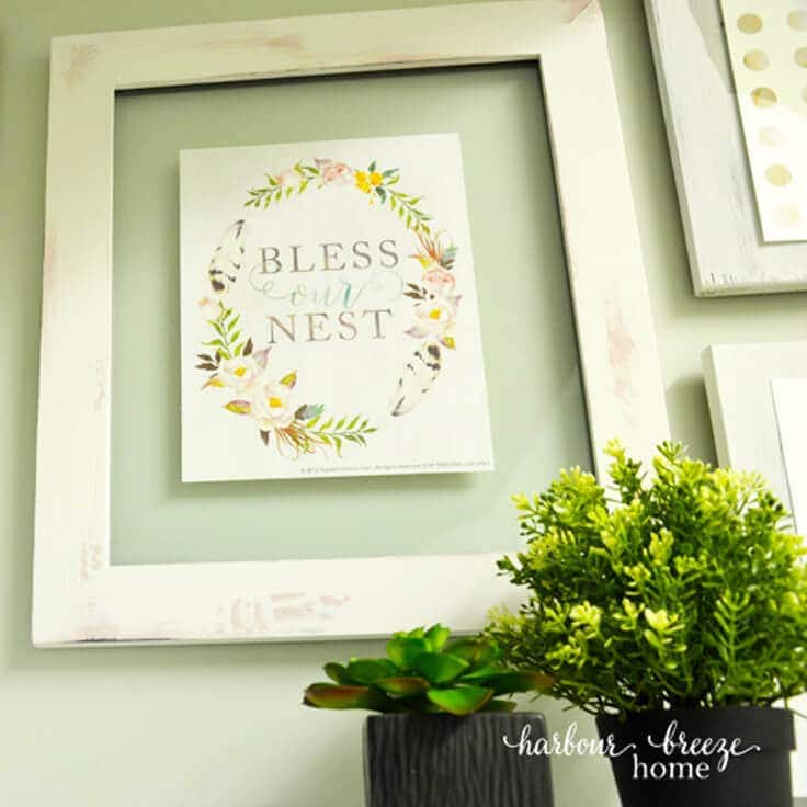 A Farmhouse Style Picture Frame Tutorial