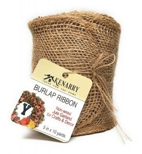 """Kenarry: Ideas for the Home 5"""" Wide Burlap Ribbon for Crafts and Decor"""