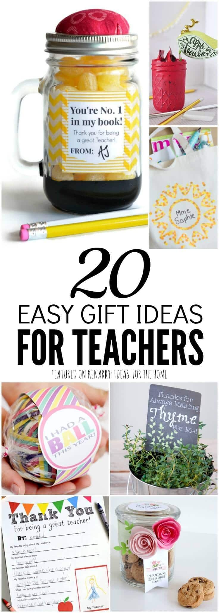 These Crafts And Free Printables Are Clever Unique Teacher Gift Ideas For Appreciation Week