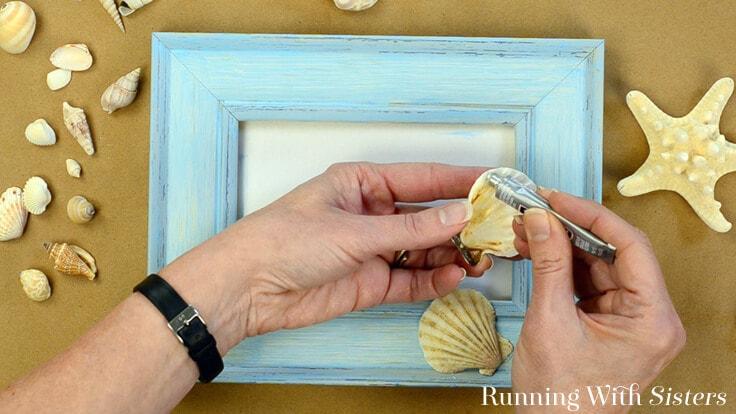 Diy Shell Frame Embellish A Frame With Seashells