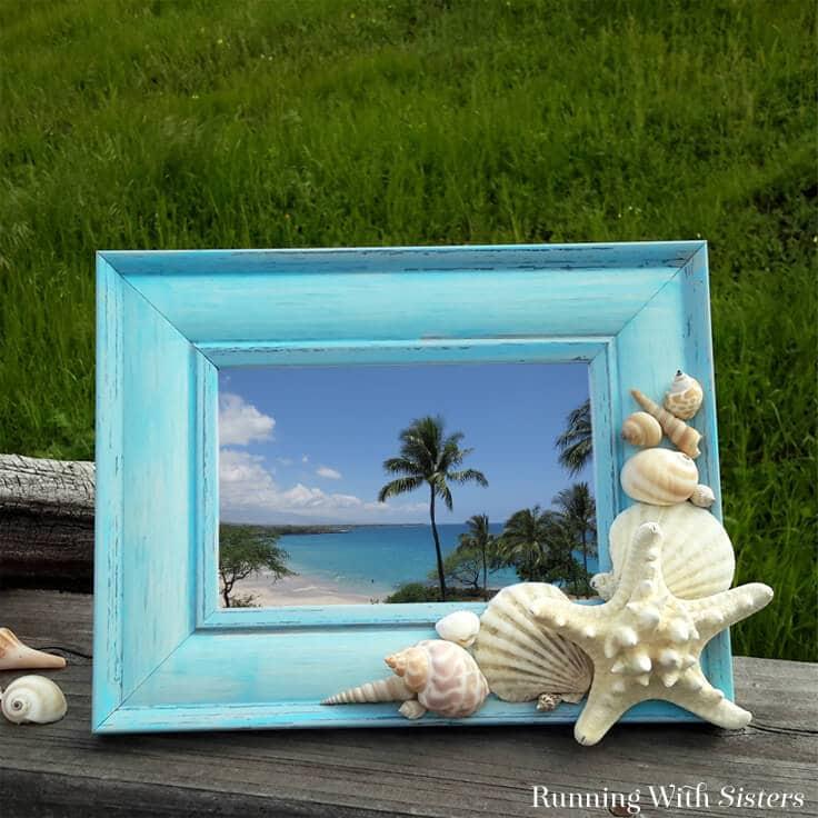 DIY Shell Frame: Embellish A Frame With Seashells