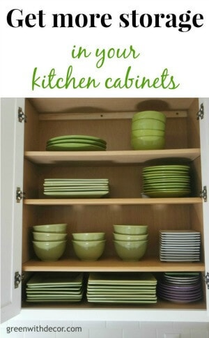 Get more storage in your kitchen cabinets