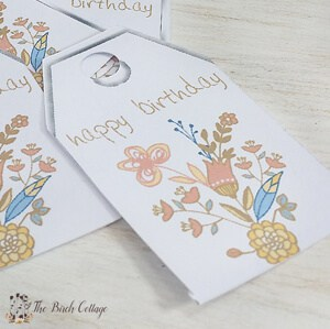 Download your free large printable birthday gift tags from The Birch Cottage