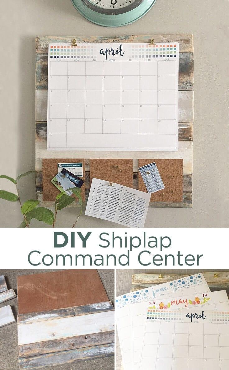 DIY shiplap command center