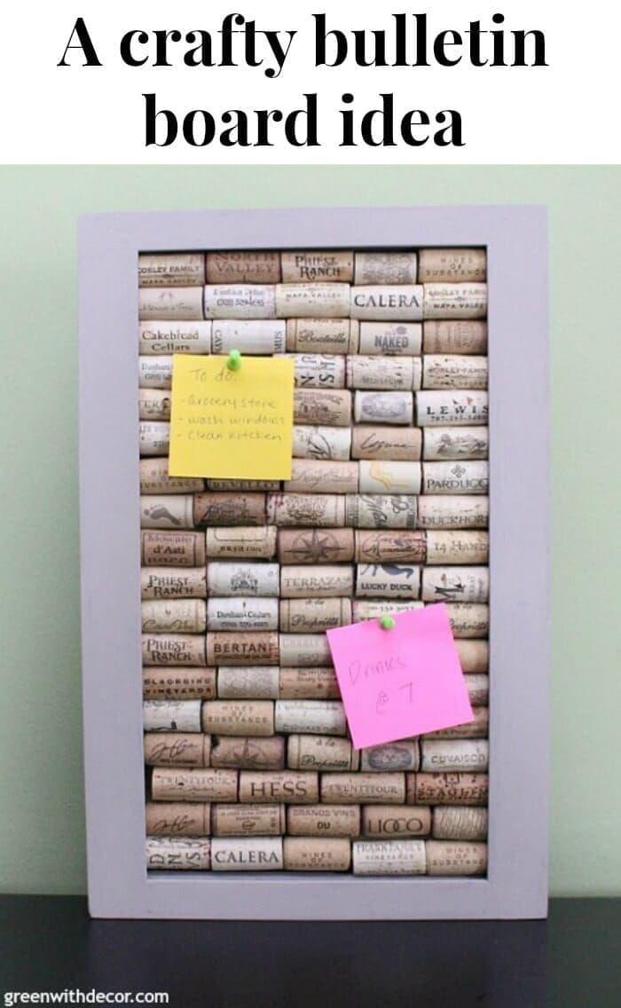 A Crafty Bulletin Board Idea