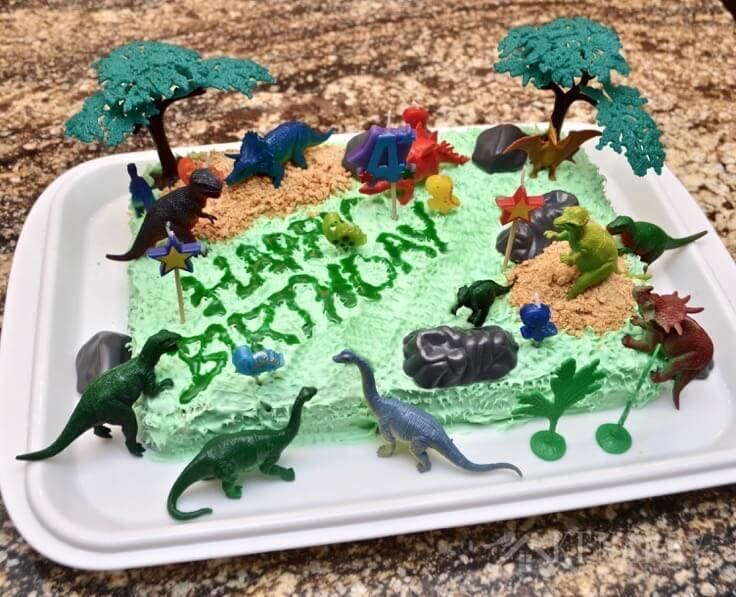 Dinosaur Birthday Cake And Amazingly Easy Party Ideas