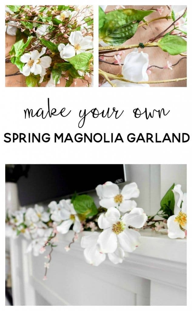How to Make your Own Spring Magnolia Garland
