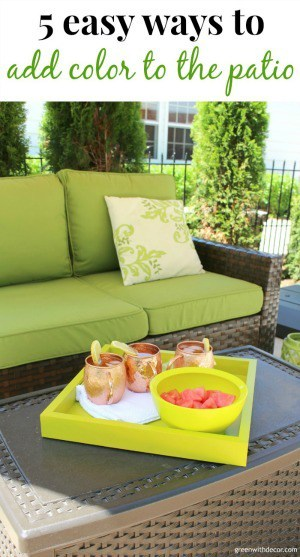how to add color to a patio