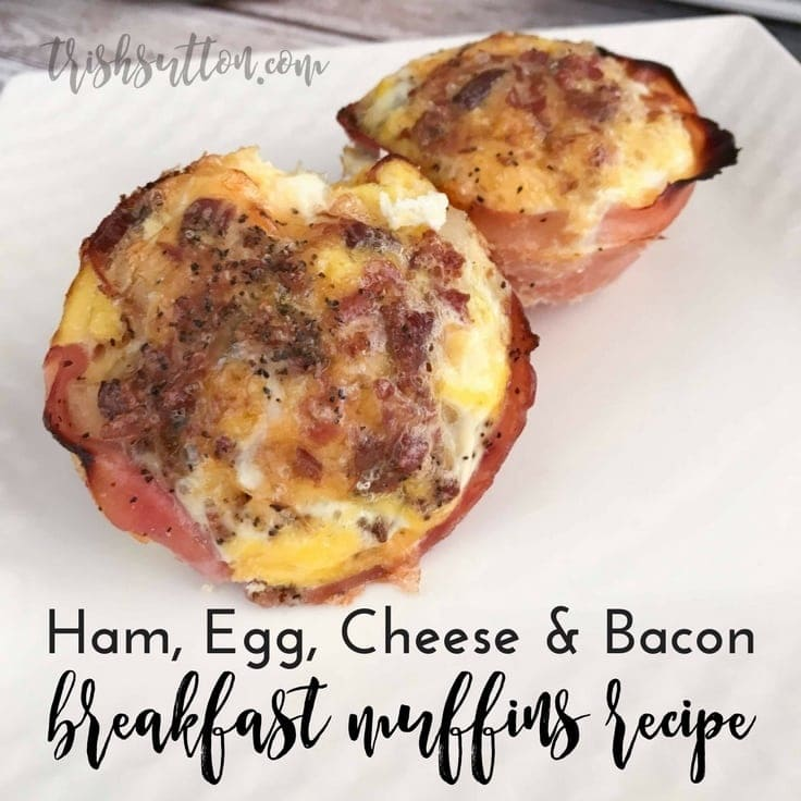 Ham, Egg, Cheese & Bacon Breakfast Muffins Recipe by Trish Sutton