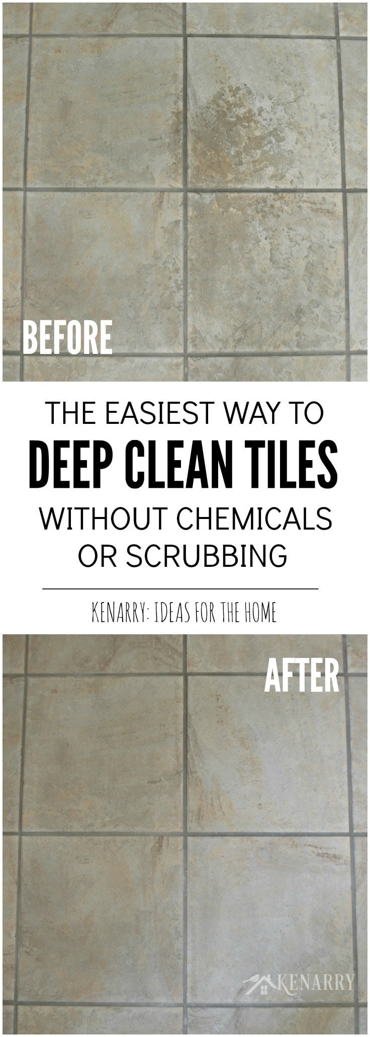Clean tile floors easily without chemicals or scrubbing i love this easy idea for how to clean tile floors quickly and easily dailygadgetfo Gallery