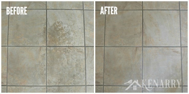 Wow! I love this easy idea for how to clean tile floors quickly and easily. Who knew you could get ceramic tiles deeply clean without chemicals or scrubbing on your hands and knees?