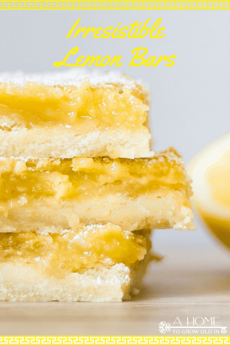 This irresistible lemon bars recipe balances sweet with tartness by combining the perfect shortbread crust with a delicious lemon custard. This easy summer dessert will be the best treat at your next summer BBQ or get-together! #lemonbars #dessert #kenarry