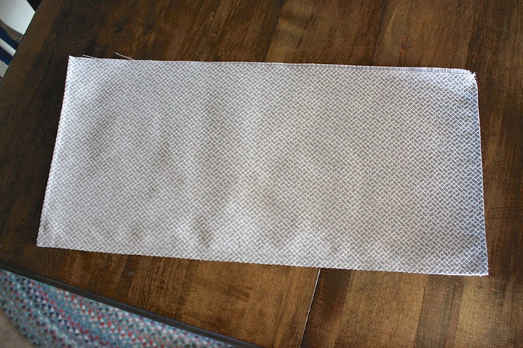 The front of the stitched valance