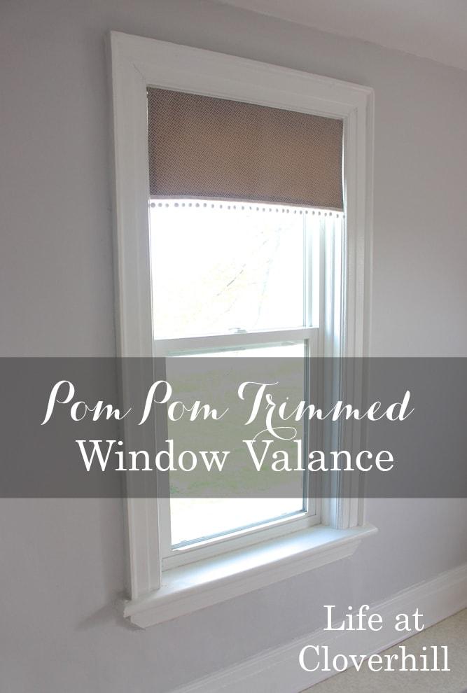 How to make a pom pom trimmed window valance