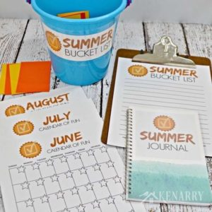 Summer Bucket List Ideas and Printables for Families